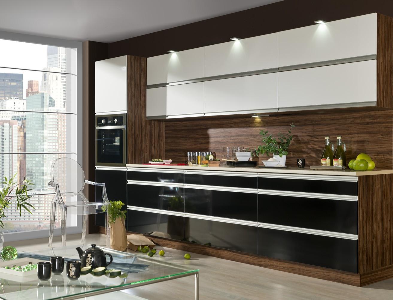 Meble kuchenne wysoki połysk , zestaw kuchenny , kuchnia Domell