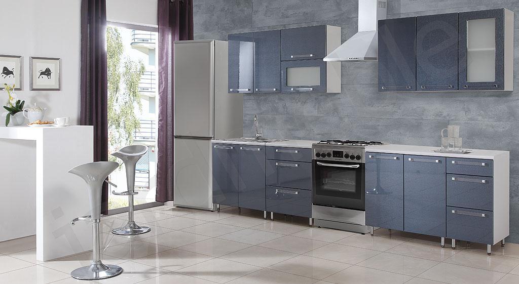 Meble kuchenne , kuchnia , zestaw kuchenny wysoki Połysk Coton -> Kuchnia Uchwyty Reling