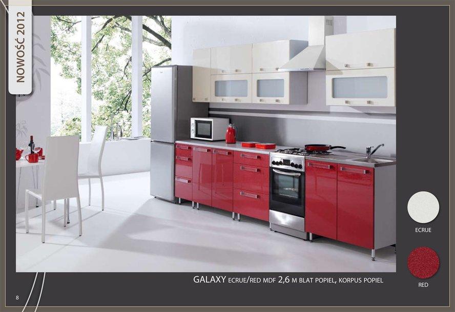 Modernistyczne Meble kuchenne , Galaxy połysk , kuchnia , zestaw kuchenny wysoki JE12