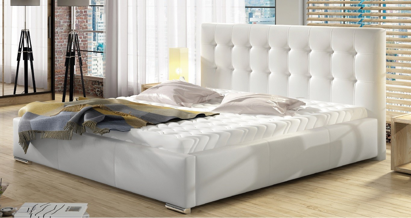 łóżko Dolores 160 Stelaż Materac Mega Promocja łóżko